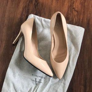 Aquatalia nude leather heels